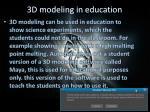 3d modeling in education