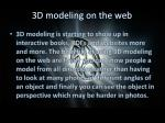 3d modeling on the web