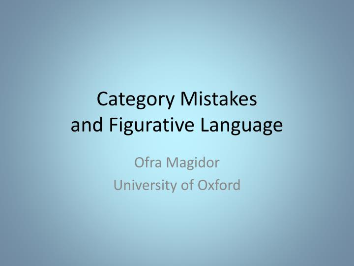 category mistakes and figurative language n.