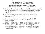 additional questions specific from noaa swpc