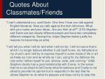 quotes about classmates friends