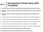sociogramme carlson berg 2007 translation