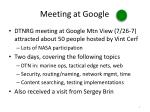meeting at google