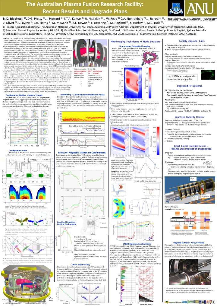 the australian plasma fusion research facility recent results and upgrade plans n.