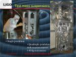 test mass suspensions
