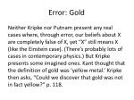 error gold