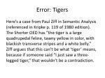 error tigers