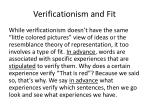 verificationism and fit