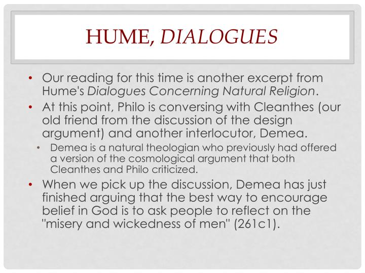 Hume dialogues