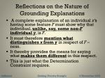 reflections on the nature of grounding explanations