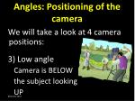 angles positioning of the camera2