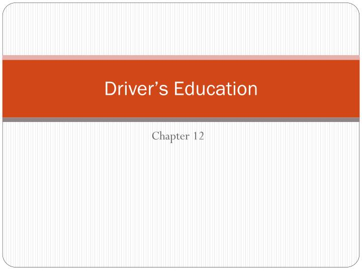 driver s education n.