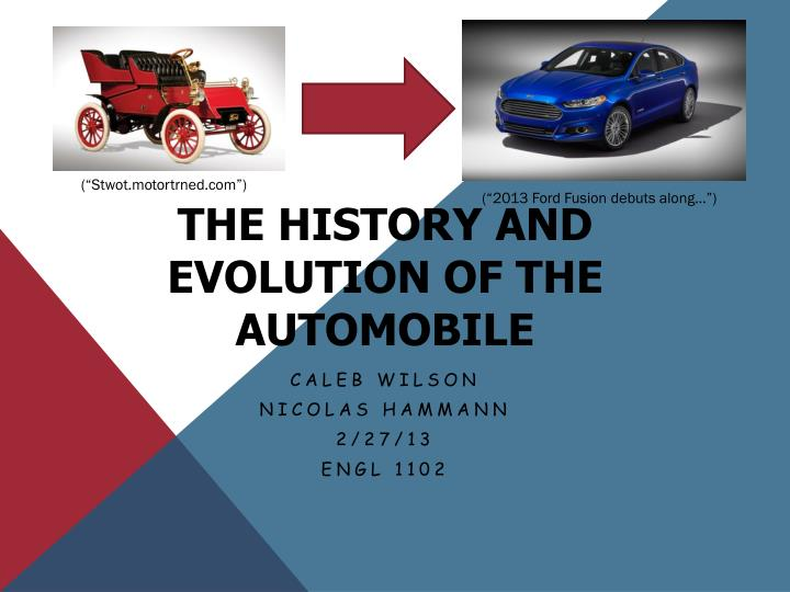 the history and evolution of the automobile n.