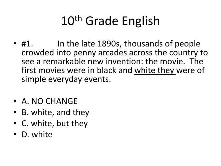 10 th grade english