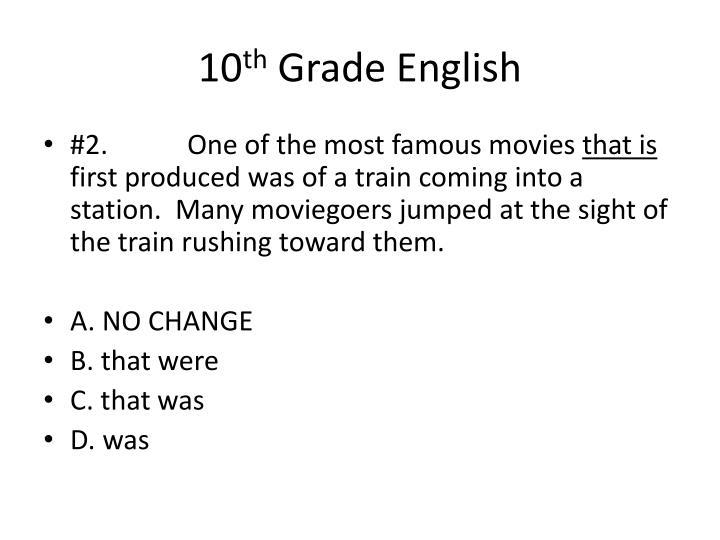 10 th grade english1