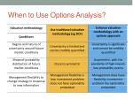 when to use options analysis