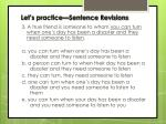 let s practice sentence revisions2