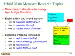 hybrid main memory research topics