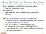 idea 3 dynamic data transfer granularity