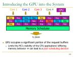introducing the gpu into the system