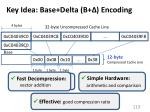 key idea base delta b encoding
