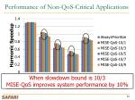 performance of non qos critical applications
