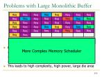 problems with large monolithic buffer