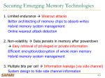 securing emerging memory technologies