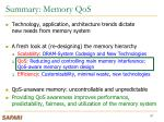 summary memory qos