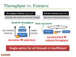 throughput vs fairness