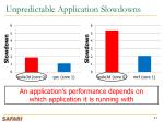 unpredictable application slowdowns