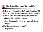 apa rules must have future effect