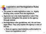 legislative and nonlegislative rules