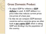 gross domestic product1