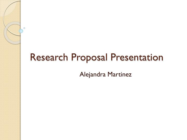 research proposal presentation