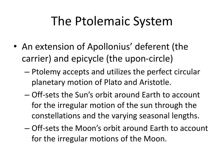The Ptolemaic System