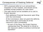 consequences of seeking deferral