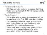 reliability review