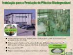 instala o para a produ o de pl stico biodegrad vel