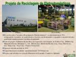 projeto de r eciclagem de eletrodom sticos