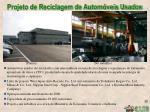 projeto de reciclagem de autom veis usados