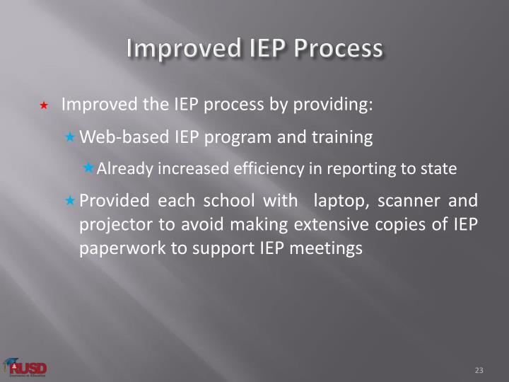Improved IEP Process