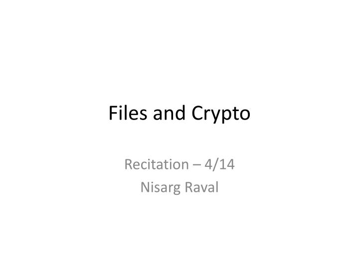 files and crypto n.