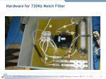 hardware for 720hz notch filter