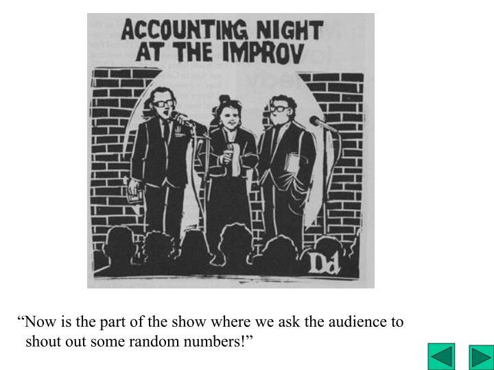 Accounting night at the improv