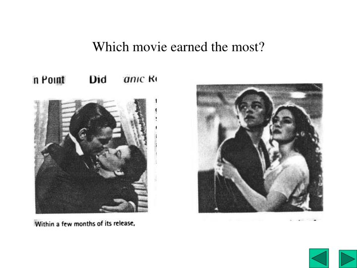 Which movie earned the most?