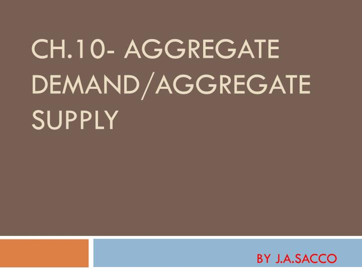 ch 10 aggregate demand aggregate supply n.