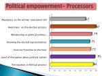 political empowerment processors
