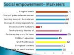 social empowerment marketers