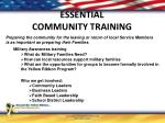 essential community training